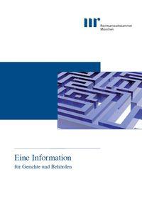 Eine Information für Gerichte und Behörden